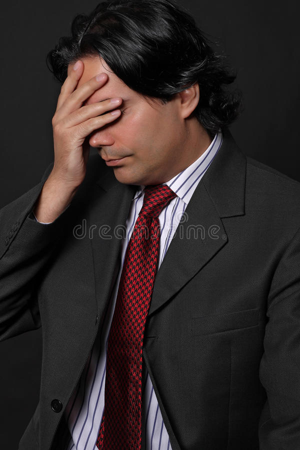 Download Desperate man stock image. Image of face, fear, business - 17683925