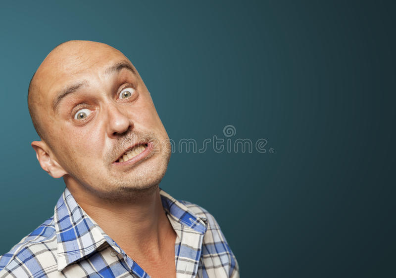Desperate man royalty free stock photography