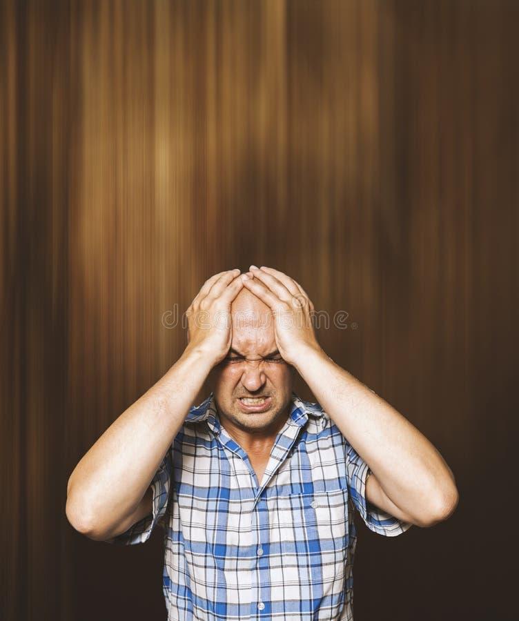 Desperate man stock photos