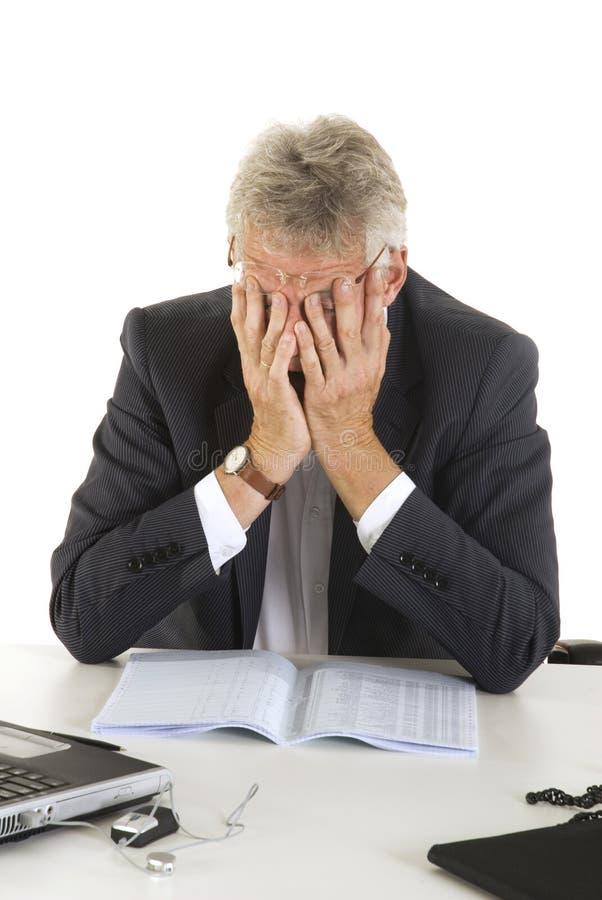Desperate manager stock photos