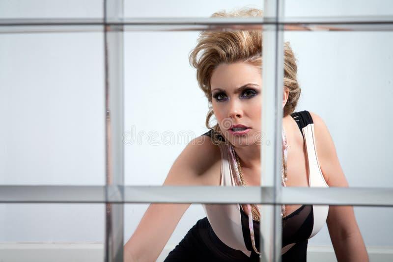 Download Desperate woman stock image. Image of prisoner, prison - 18961121