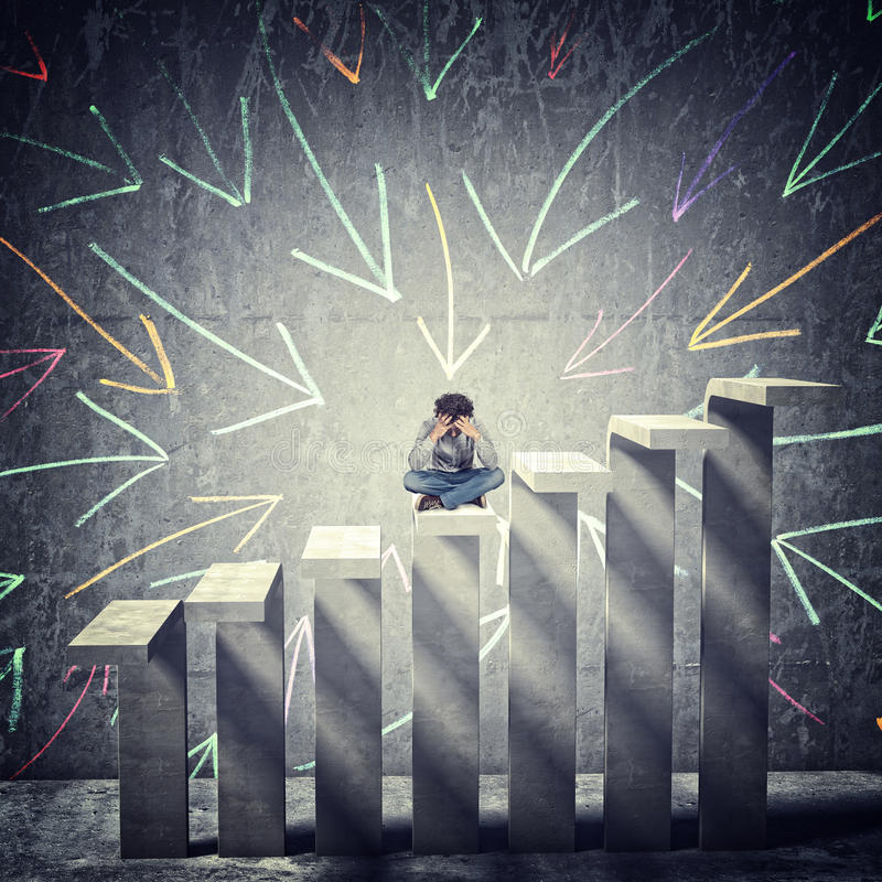 Desperation and abstract background stock illustration