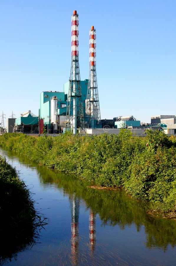 Desperdício à planta de energia fotografia de stock