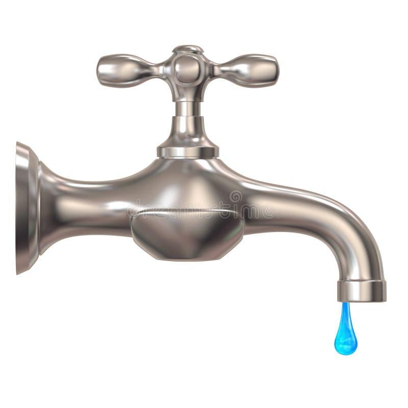 Desperdício da água ilustração stock