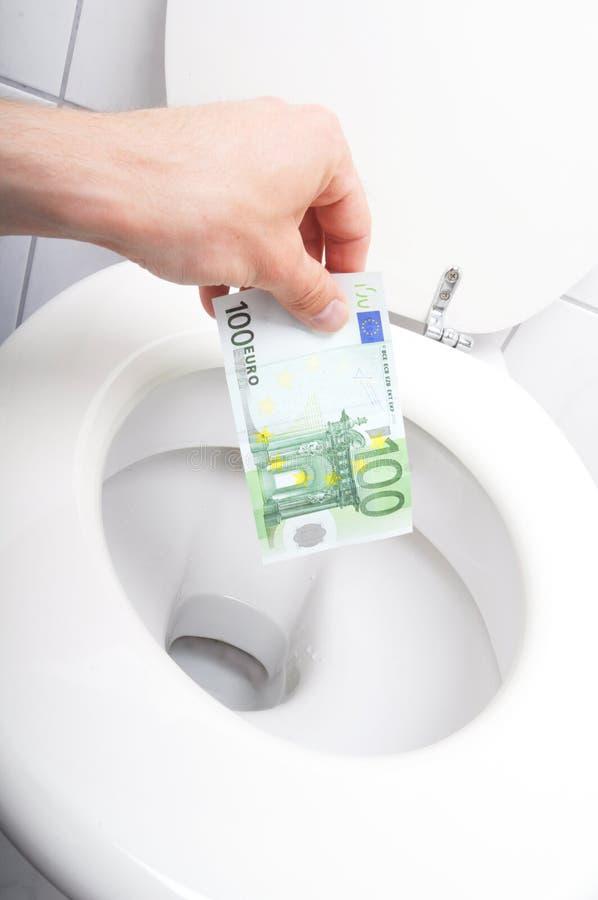 Desperdício de dinheiro fotos de stock