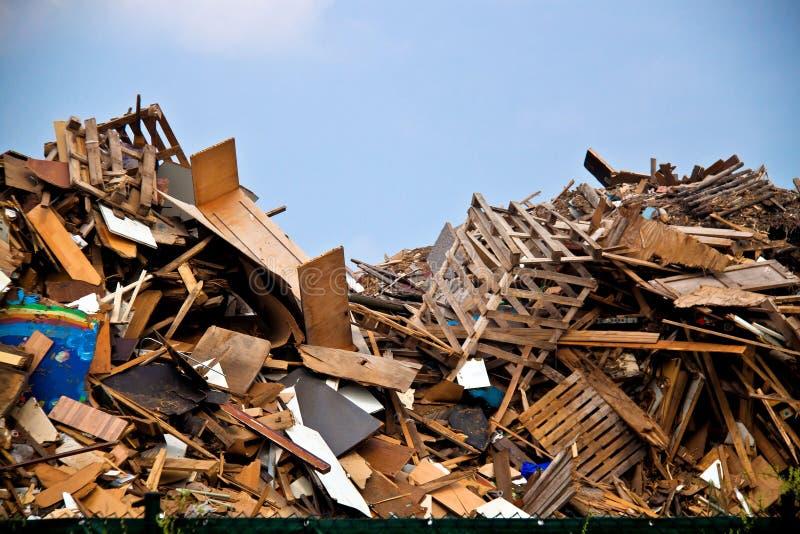 Desperdício de madeira foto de stock royalty free