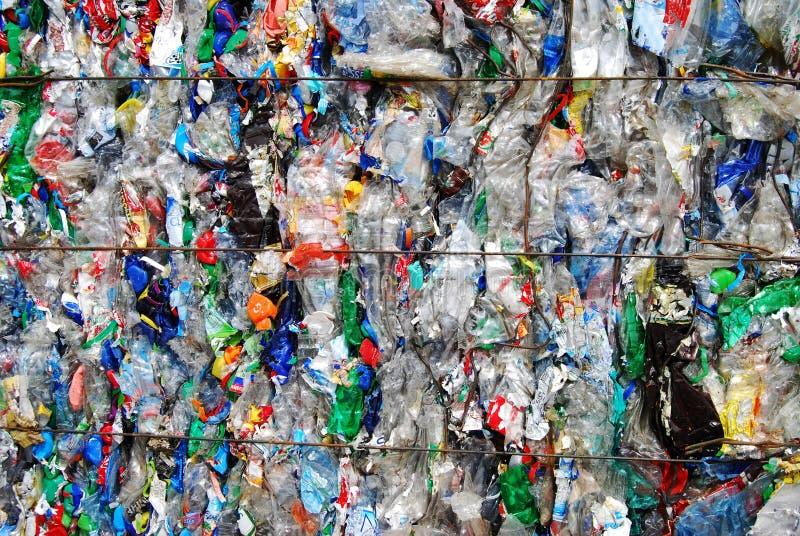 Desperdício do plástico fotografia de stock