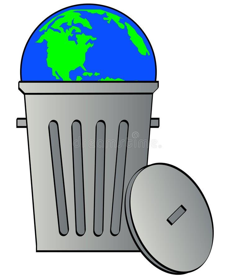 Desperdício global ilustração do vetor