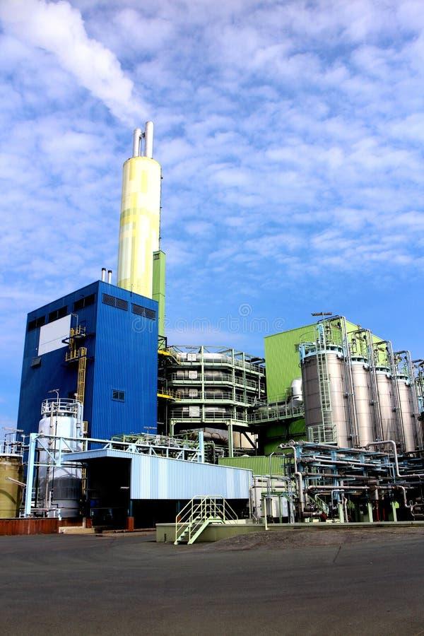 Planta de incineração Waste imagens de stock