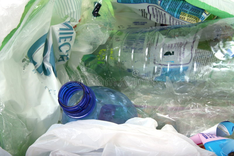 Desperdícios plásticos para recicl fotografia de stock royalty free