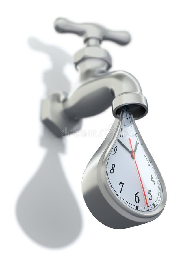 Desperdiçando o conceito do tempo ilustração royalty free