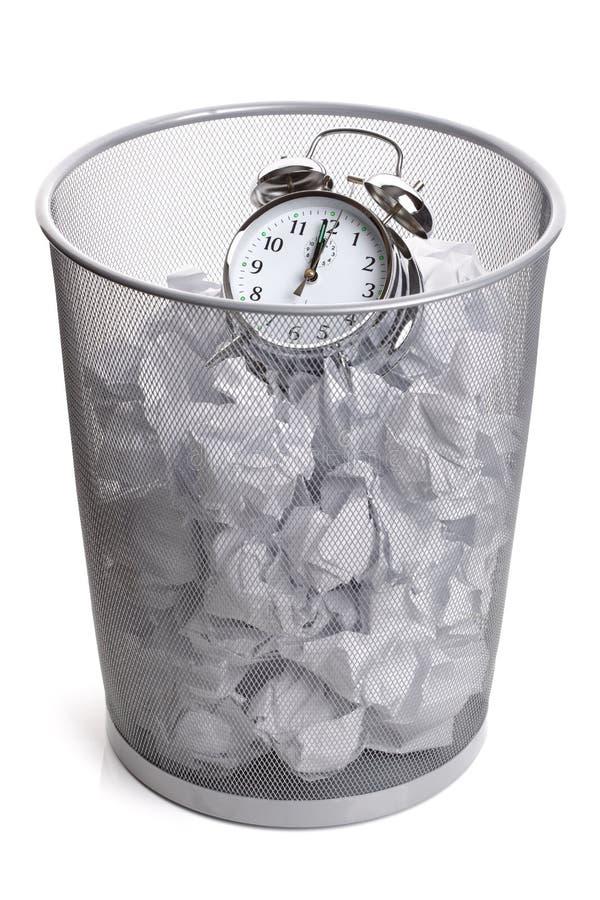 Desperdiçando o tempo fotografia de stock