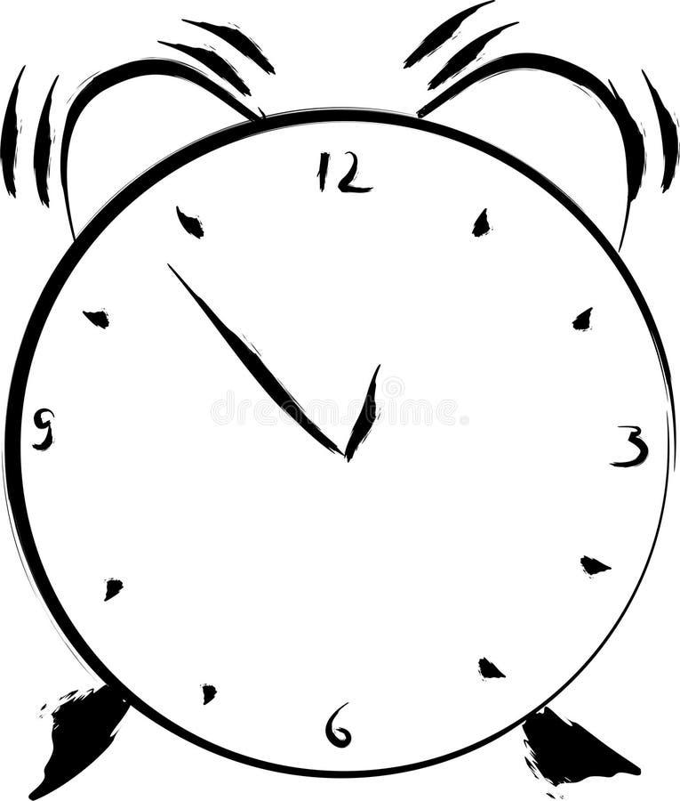 Despertador ilustração do vetor