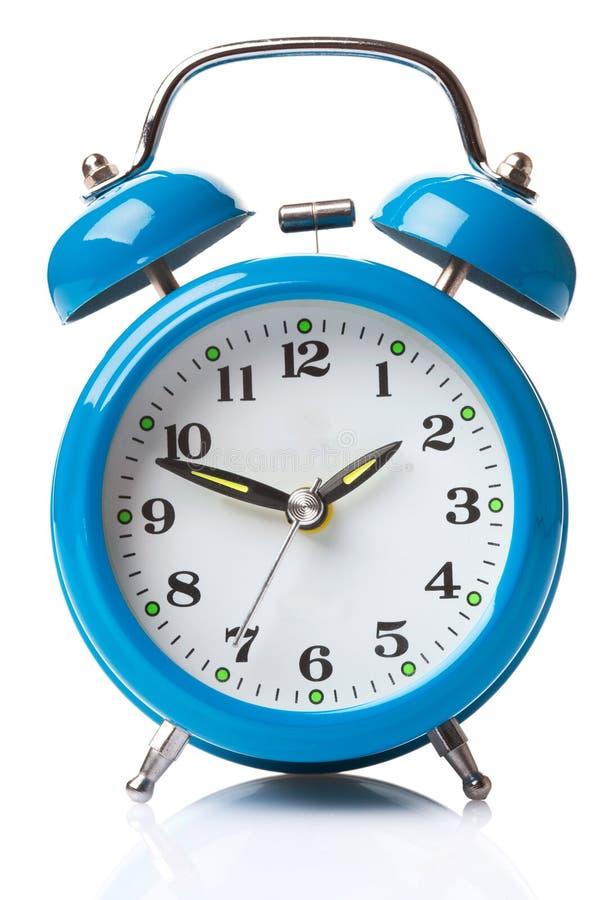Despertador azul imagens de stock