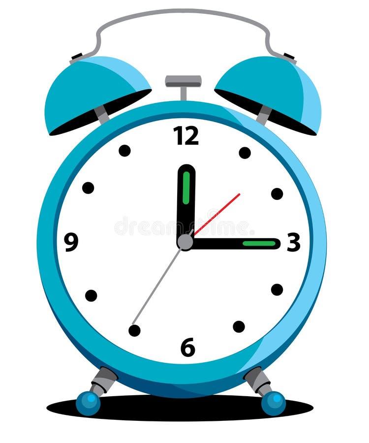 Despertador azul ilustração do vetor