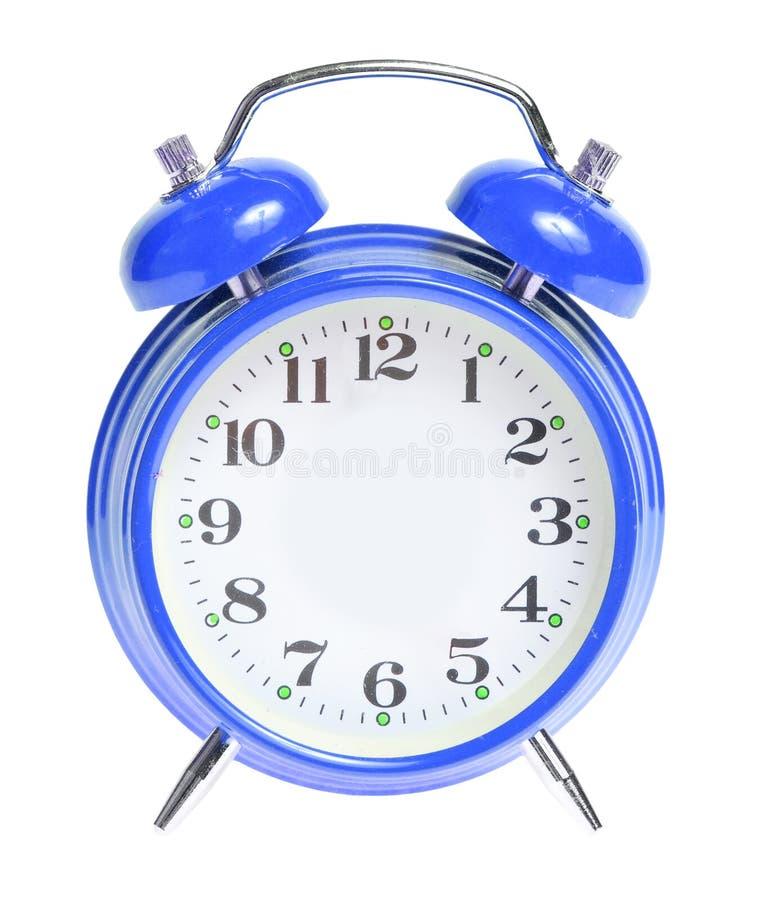 Despertador azul isolado imagens de stock