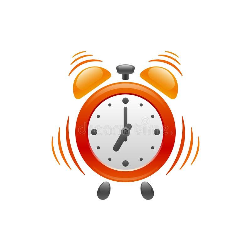 Despertador com vibração Engrena o ícone ilustração stock