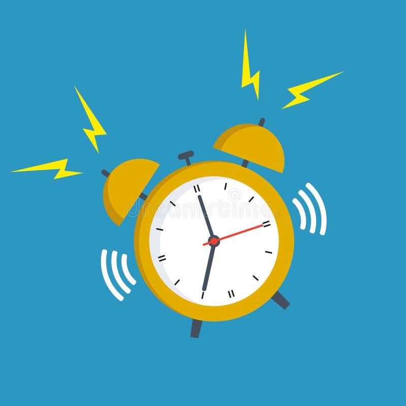 despertador con una llamada en un fondo blanco libre illustration