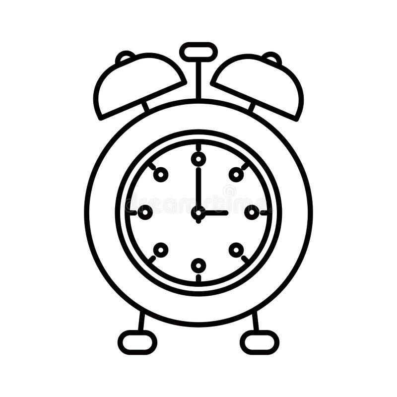 Despertador de la imagen de la silueta del bosquejo libre illustration