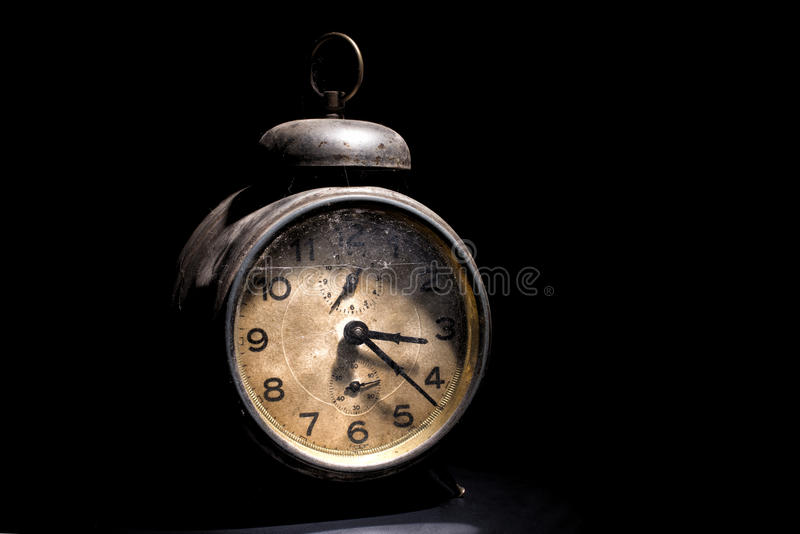 Download Despertador Del Vintage En Negro Foto de archivo - Imagen de viejo, metal: 44857796
