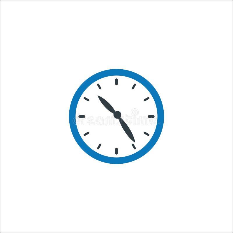 Despertador, gestão de tempo, ícone do sincronismo ilustração royalty free