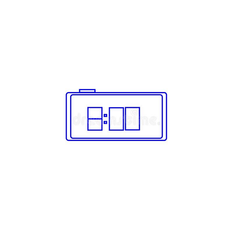 Despertador, icono azul Reloj del ` de ocho o ilustración del vector