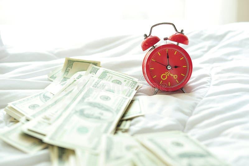 Despertador na manhã foto de stock