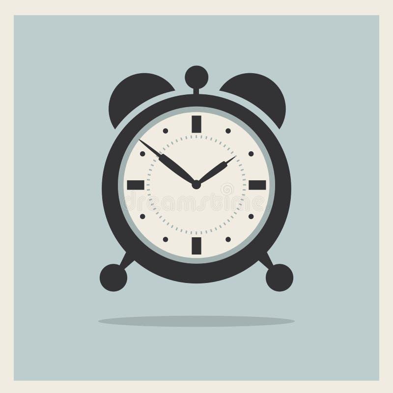 Despertador no vetor retro do fundo ilustração stock