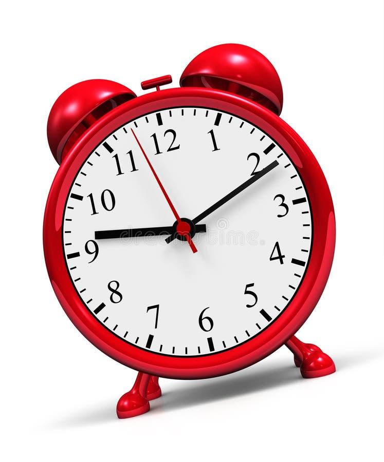 Despertador retro vermelho imagem de stock