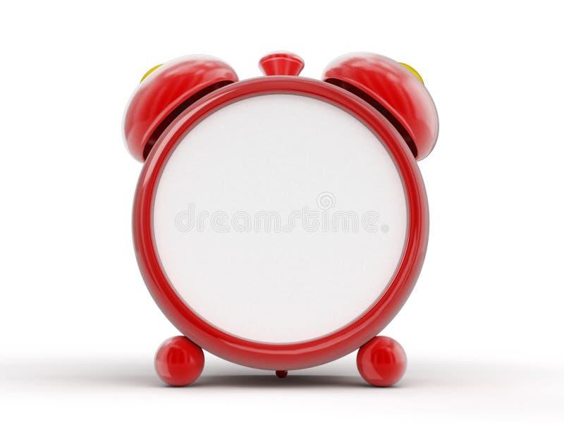 Despertador rojo Imagen con la trayectoria de recortes libre illustration