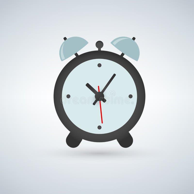 Despertador, tiempo para despertar, ejemplo aislado en fondo ligero ilustración del vector