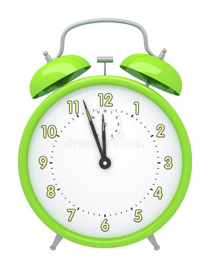Despertador verde ilustração do vetor