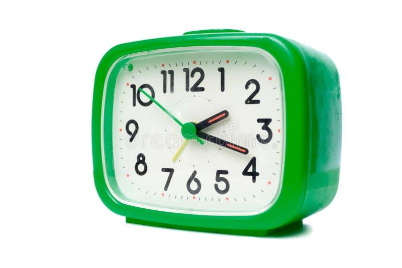 Despertador verde imagens de stock
