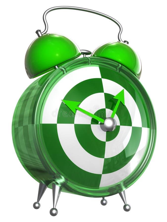 Despertador verde e branco ilustração do vetor