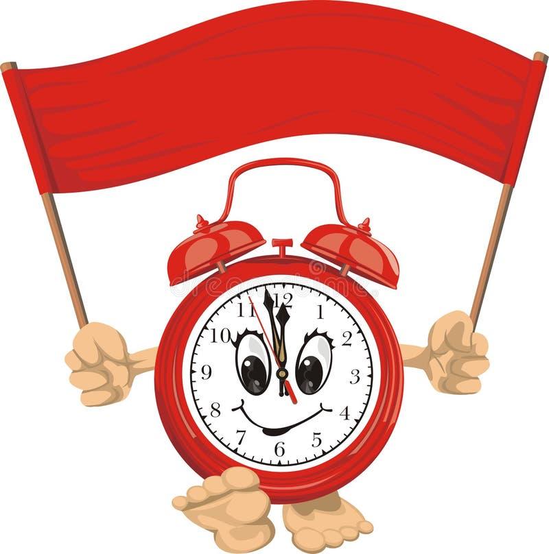 Despertador vermelho ilustração royalty free