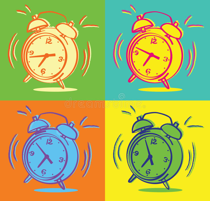 Despertadores ilustração royalty free