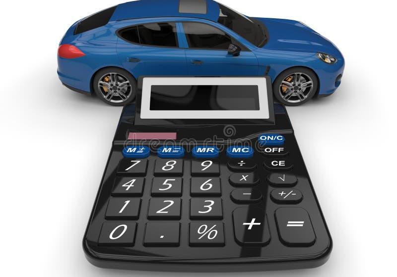 Despesas da manutenção do carro ilustração royalty free