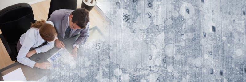 Despesas gerais da reunião de negócios com transição cinzenta da textura fotos de stock royalty free