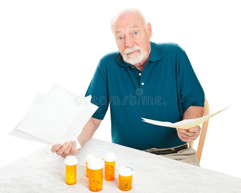 Despesas médicas demais foto de stock
