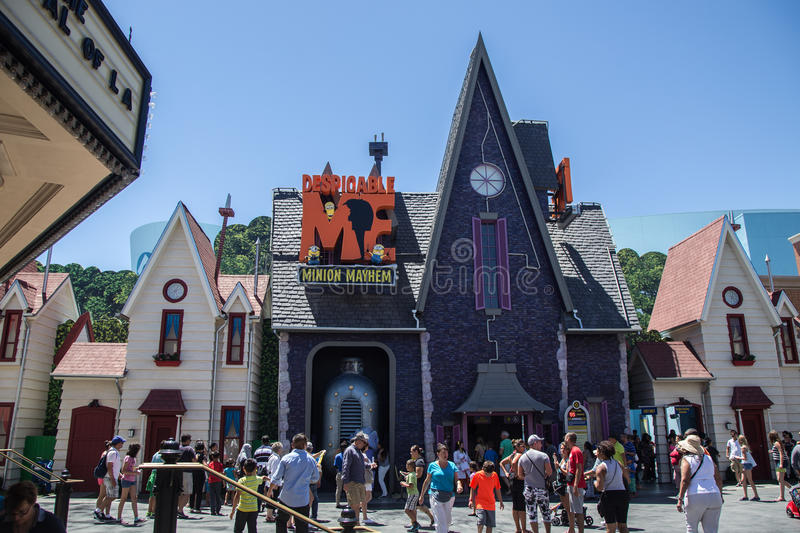 Despicable Me Minion Mayhem Universal Studios, Hollywood royalty free stock images