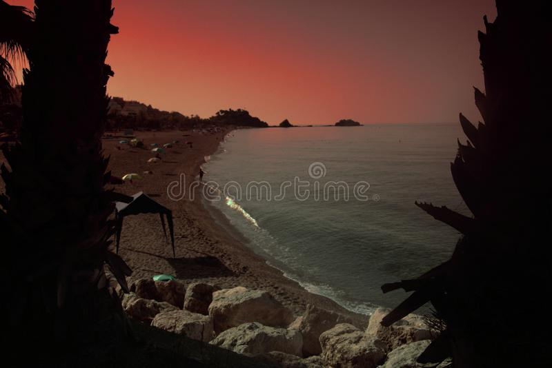 The seaside of Almuñecar on a sunny day 2 stock photography