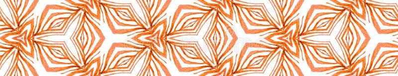 Desplazamiento de borde sin foco tropical naranja Geométrico imagen de archivo libre de regalías