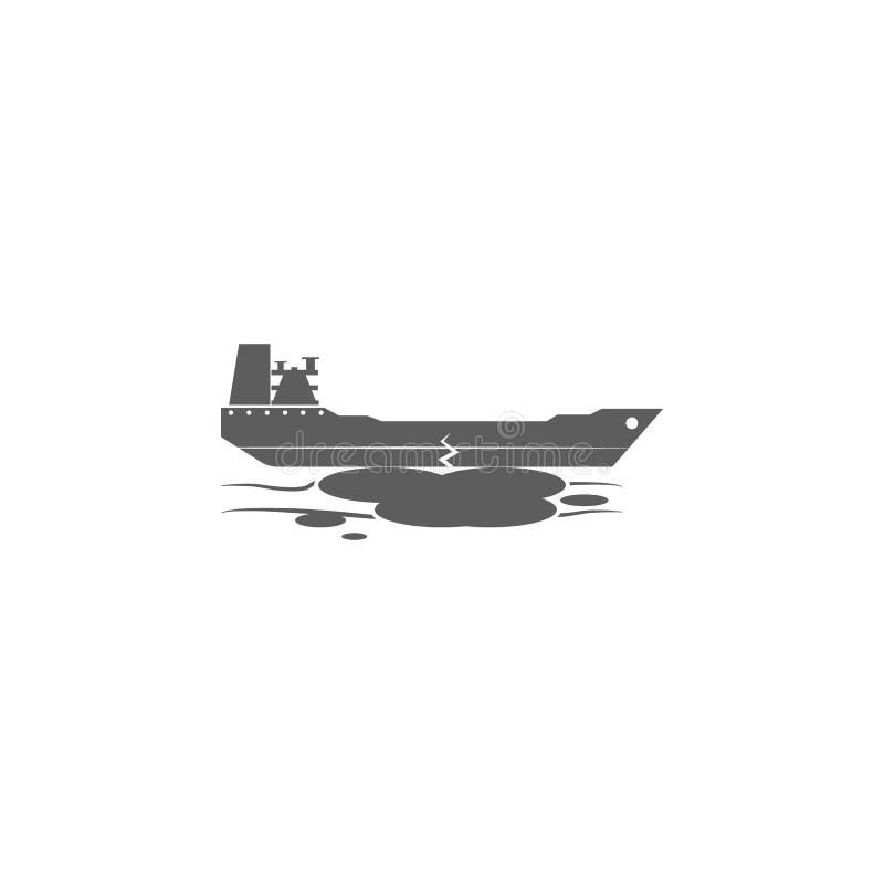 desplome de un icono del buque de petróleo Elemento del icono del petróleo y gas Icono superior del diseño gráfico de la calidad  ilustración del vector