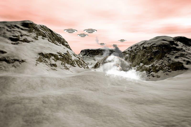 Download Desplome del UFO stock de ilustración. Ilustración de spaceship - 44852055