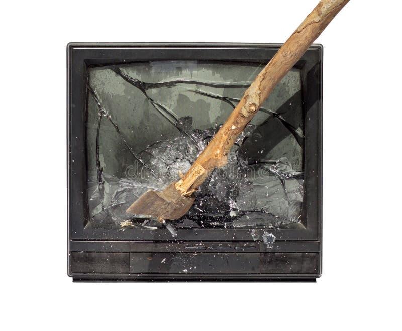 Desplome TV foto de archivo libre de regalías