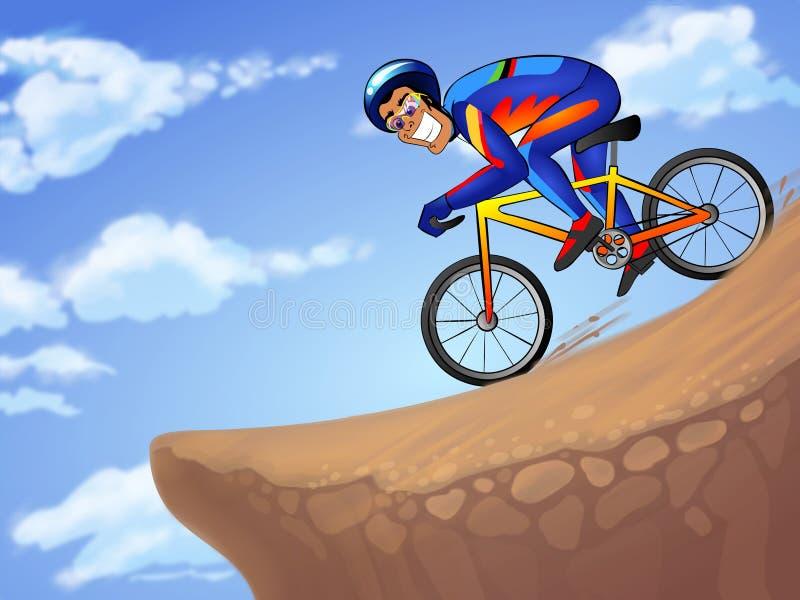 Desportista em declive ilustração do vetor