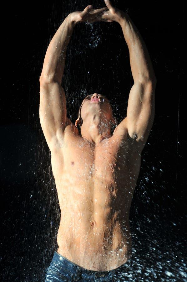 Desportistas no aqua foto de stock