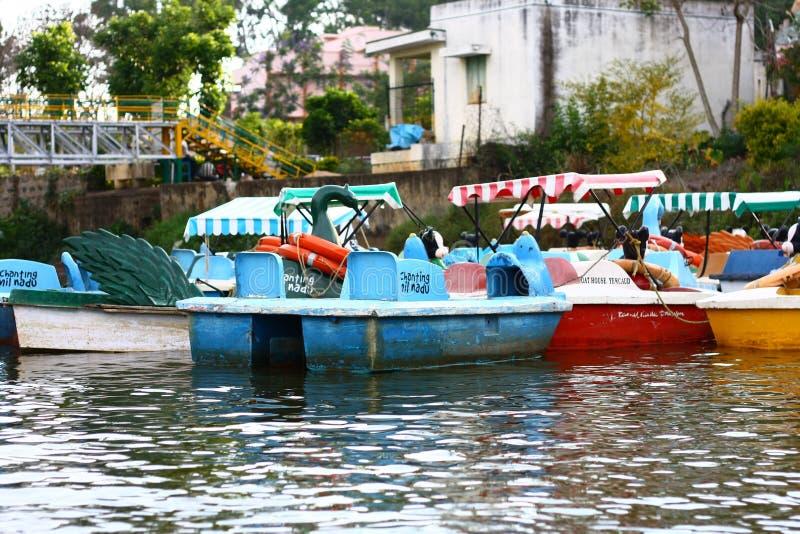 Desporto de barco do turismo de India imagens de stock