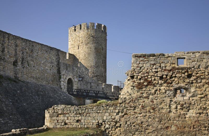 Despotport i den Kalemegdan fästningen serbia royaltyfri foto