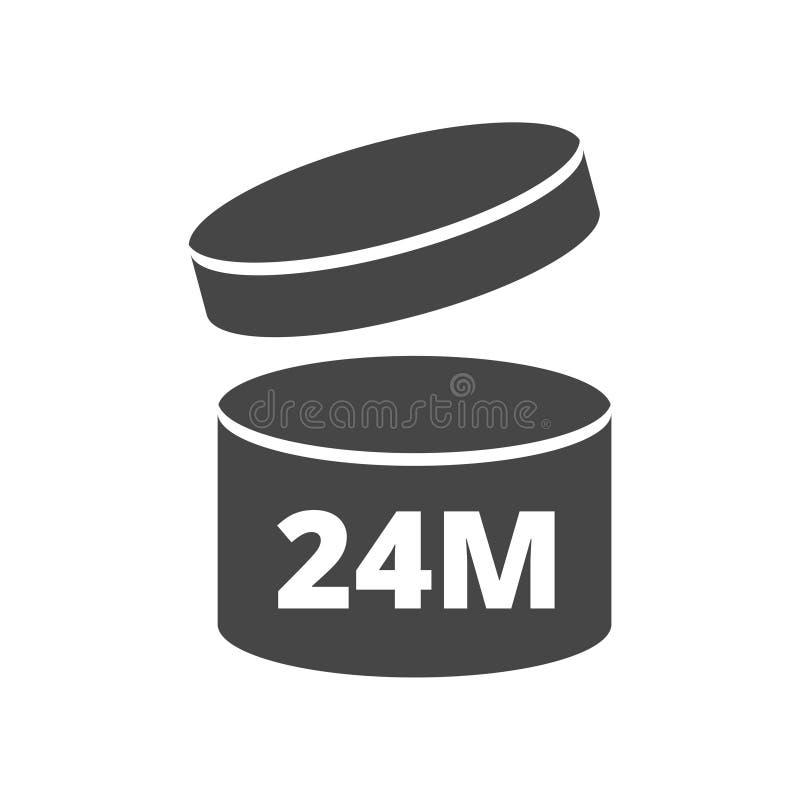 Después de abrir uso 24 meses de icono de la muestra ilustración del vector